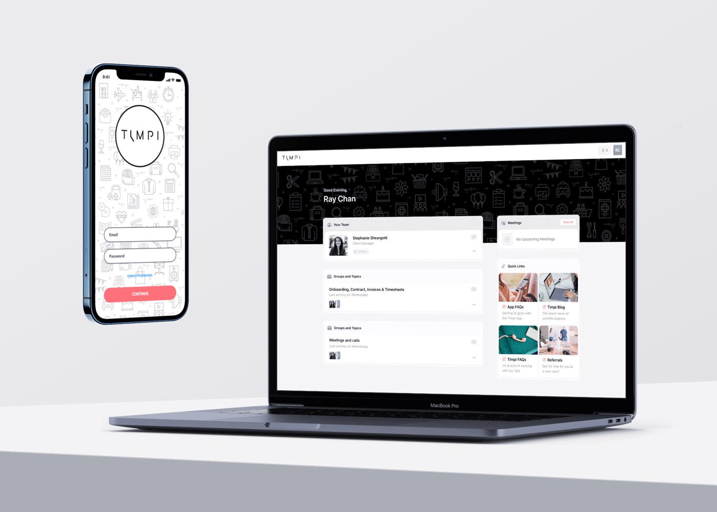 Timpi app login and desktop