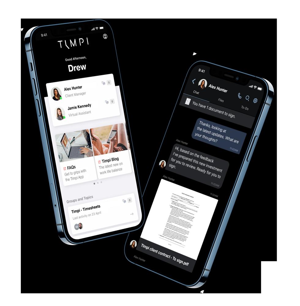 Timpi Virtual Assistants App